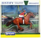 Breyer Model Horse Holiday Ornament - Justify Red Jockey