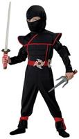 Stealth Ninja Warrior Jumpsuit Child Costume