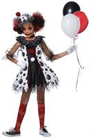 Creepy Clown Girl Child Costume, Large