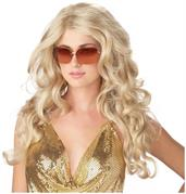 Blonde Sexy Super Model Long Costume Wig Adult