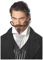 The Gambler Costume Moustache and Chin