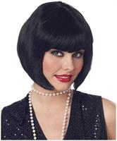 Black Bob Flapper Costume Wig Adult