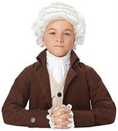 Colonial Man Child Costume Wig