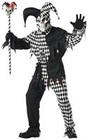 Evil Jester Costume Black and White Adult