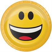 "Show Your Emojions 7"" Paper Luncheon Plates: 8 Count"