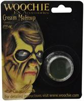 Green Cream Costume Make Up 1/8 oz Carded