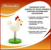Crowded Coop Legend of Zelda Springz Chicken Dashboard Accessory