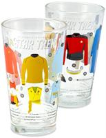 Star Trek Uniforms 16oz Pint Glasses, Set of 2