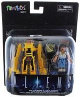 Aliens Deluxe Power Loader with Ripley & Battle-Damaged Alien Warrior Minimates