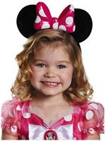 Disney Pink Minnie Lite-Up Child Costume Ears One Size