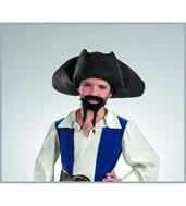 Pirates of the Caribbean Pirate Hat With Moustache and Goatee Child