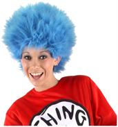 Dr. Seuss Thing 1 and 2 Blue Costume Wig Adult