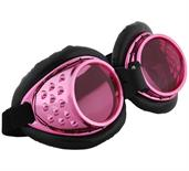 Radioactive Aviator Adult Costume Goggles Pink