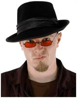 Vampire Black and Red Adult Costume Glasses