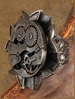 Steampunk Antique Watch Gears Costume Ring Adult