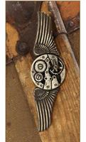Steampunk Antique Gear Wings Pin Costume Jewelry Adult