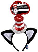 Dr. Seuss Cat In The Hat Deluxe Costume Headband With Ears Adult