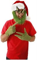 Dr. Seuss The Grinch Costume Santa Hat With Beard