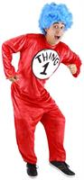Dr. Seuss Thing 1 and 2 Costume Adult