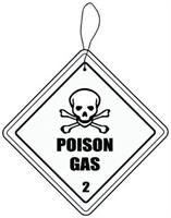 Hazmat Poison Gas Automobile Air Freshener