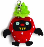 "Ugly Dolls Fruities 4"" Plush Clip-On: Ninja Batty Strawberry"