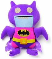 "Ugly Dolls DC Comics 11"" Plush: Pink/Purple Ice-Bat Batman"