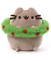 "Pusheen 4.5"" Holiday Plush with Wreath"