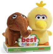 Sesame Street Big Bird and Mr. Snuffleupagus 4 Inch BFF Plush Set