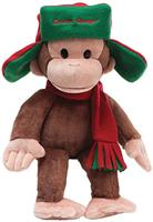 "Curious George 7"" Plush George In Fargo Hat"