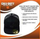 Call Of Duty: Black Ops 4 Skull Logo Emblem Trucker Hat | Sized For Adults