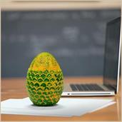 Dragon Egg Paperweight Replica | Solid Resin 4.5-Inch | Fleece Pouch | Green