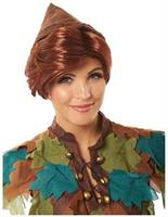 Peter Pan Adult Costume Wig - Brown