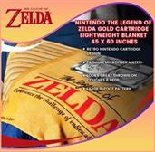 Nintendo The Legend of Zelda Gold Cartridge Lightweight Blanket | 45 x 60 Inches