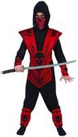 Red Skull Lord Ninja Costume Child