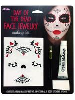 Day of the Dead Face Jewelry Makeup Kit