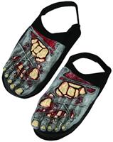 Zombie Bone Foot Covers Costume Accessory Adult