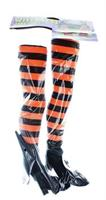 Witch Legs Yard Stakes Orange/Black Halloween Decor