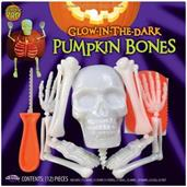 Halloween Glow In The Dark Skellington Bones Pumpkin Carving & Decorating Kit