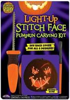 E.L.Stitch Face Pumpkin Carving Kit | Orange