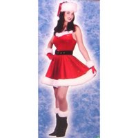 Mrs Santa Baby Costume Dress With Accessory