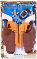 Double Gun and Holster Costume Accessory Set Adult