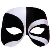 Black and White Voodoo Costume Eye Mask Adult Standard