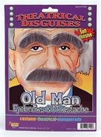 Old Man Costume Eyebrows and Moustache