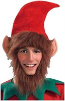 Christmas Elf Ears and Beard Costume Hat