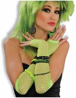 Fishnet Fingerless Long Costume Glove Green
