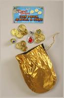 Desert Prince/Princess Coin And Jewel Pouch Costume Accessory