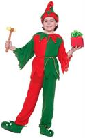 Santa's Elf Costume With Jingle Bells Child