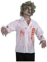 Zombie Shirt w/Blood Stains and Bones Costume Adult