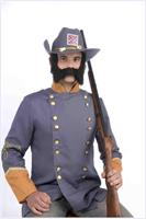 Black Mutton Chops Costume Sideburns And Mustache