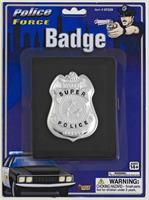 Police Badge On Wallet Costume Accessory